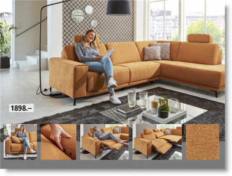 Sofa mit Relxfunktion in Stoff
