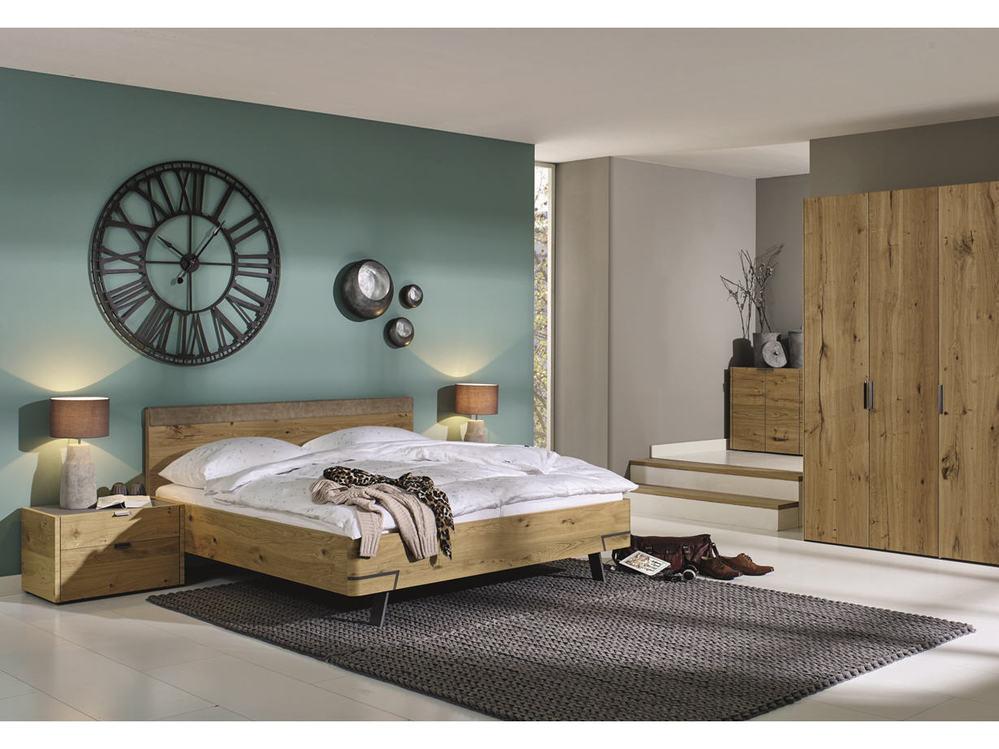 Schlafzimmer hülsta FENA in Balkeneiche oder Lack - Möbel ...